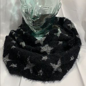 SPARKLE STARS in Black & Silver INFINITY SCARF!